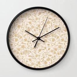 Ditsy Buttercup  Wall Clock