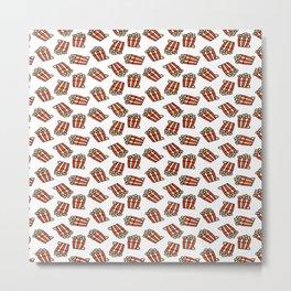 Pop Corn Pattern Metal Print