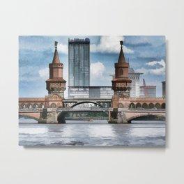 Oberbaum Bridge, Berlin Metal Print