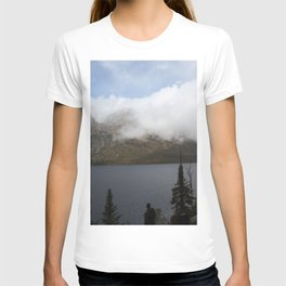 Snow Capped Mountains and Lake T-shirt