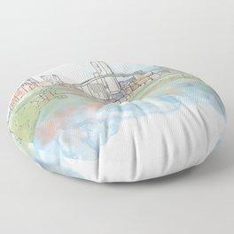 Birmingham Bridge Floor Pillow