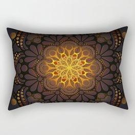 """Warm light Moroccan lantern Mandala"" Rectangular Pillow"