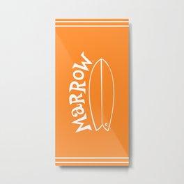 Surfari Orange 50/50 · Marrow  Metal Print