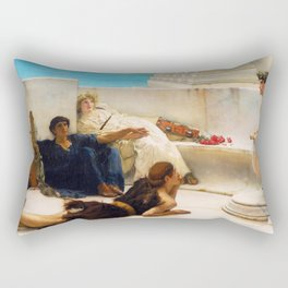 Lawrence Alma-Tadema - A Reading From Homer1 - Digital Remastered Edition Rectangular Pillow