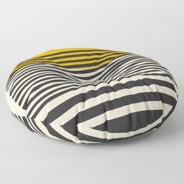 Mid Century Modern Art Print, Abstract Rainbow Arch wall art, Geometric Arch Print, yellow wall art, Floor Pillow