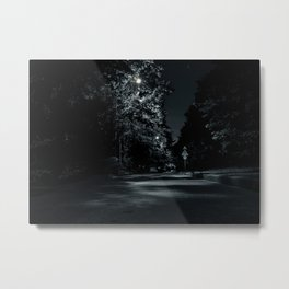 Night street, trees, month, moon, St. Petersburg (Russia) (2018-7SPB82) Metal Print