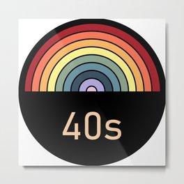 Retro rainbow 40s Metal Print