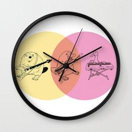 Keytar Platypus Yellow Orange Pink Wall Clock