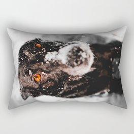 Snow Dog Rectangular Pillow