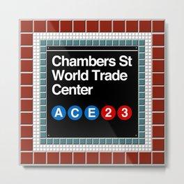 subway world trade center sign Metal Print