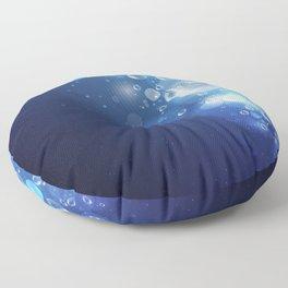 Illustraiton of underwater background with light rays Floor Pillow