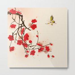 Oriental plum blossom in spring 011 Metal Print