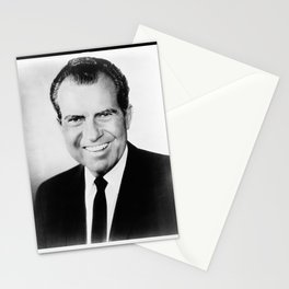 Portrait of Richard Nixon Stationery Cards