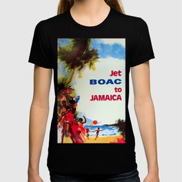 Jet to Jamaica Travel Poster T-shirt
