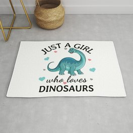 Just a Girl Who Loves dinosaurs Gift Rug