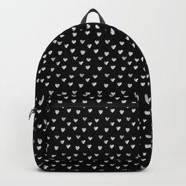 Ink Heart Pattern Backpack