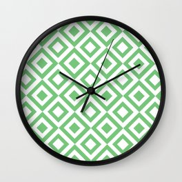 Green Grid Wall Clock
