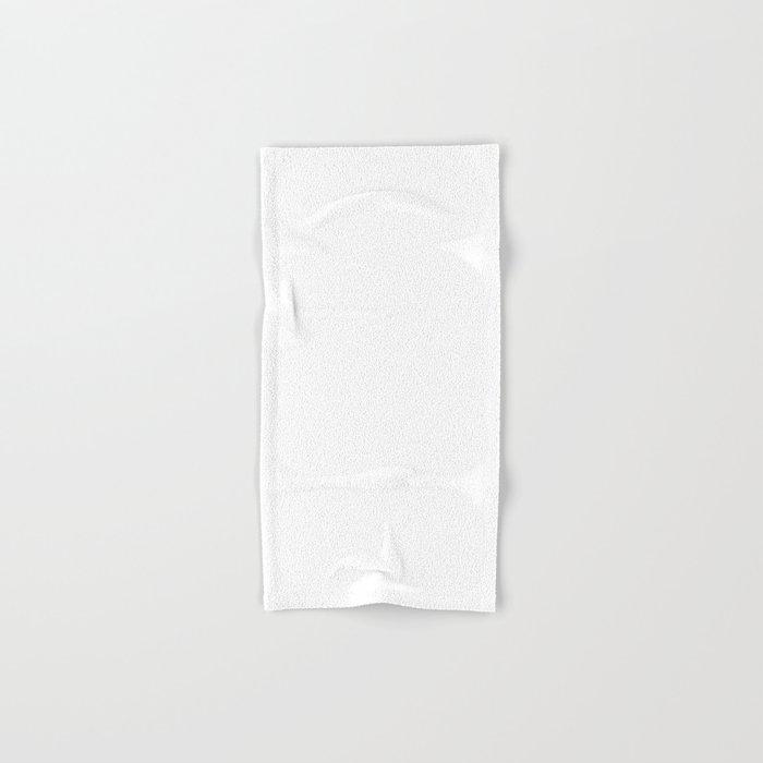 Stark White : Solid Color Hand & Bath Towel