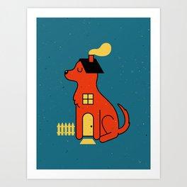 DogHouse Art Print