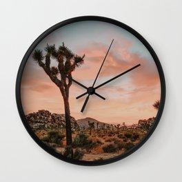 Joshua Tree IX / California Desert Wall Clock