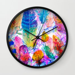 spring feathers Wall Clock