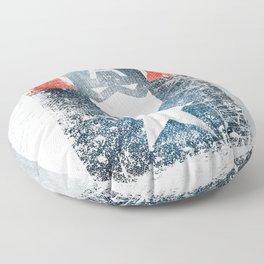 Yankee Captain grunge superhero Floor Pillow