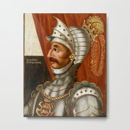 Vintage William The Conqueror Painting Metal Print