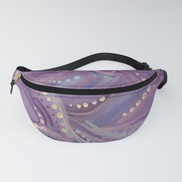 Abstract Lilac Painting Fanny Pack