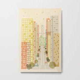 California Street Metal Print