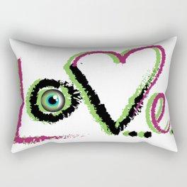 Green Love Rectangular Pillow