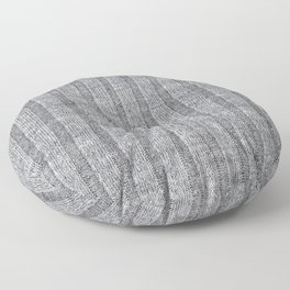 Soft Grey Jersey Knit Pattern Floor Pillow