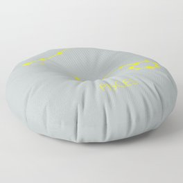 PISCES (YELLOW-SILVER STAR SIGN) Floor Pillow