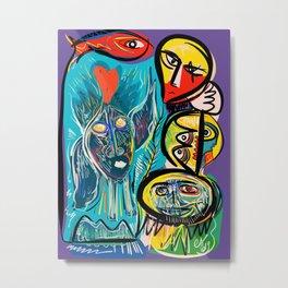 Red Fish and a Spirit of Love Street Art Graffiti Metal Print