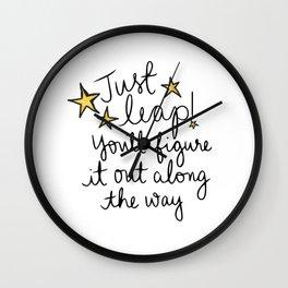Just Leap Wall Clock