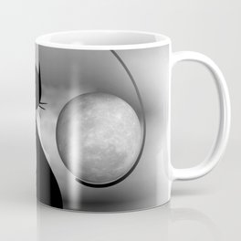 dreaming of mooncats bw -3- Coffee Mug