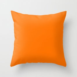 Bright Neon Orange Russet 2018 Fall Winter Color Trends Throw Pillow