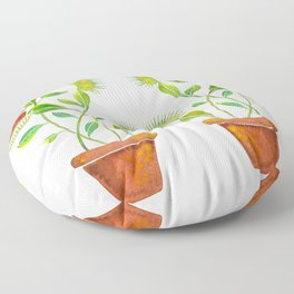 Venus Fly Trap Watercolor Floor Pillow