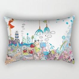 """Landscape with wild strawberries"" by LIISI LUKK Rectangular Pillow"