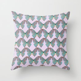 Iridescent Purple and Blue Butterfly Throw Pillow