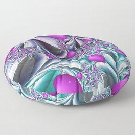 Love makes happy Fractal Art Floor Pillow