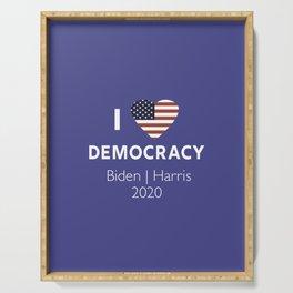 I Love Democracy Vote Biden Harris Serving Tray