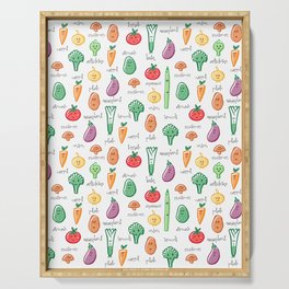 Fruits and Vegetables pattern Serving Tray