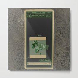 Send Nodes - Rare Variegated Thai Constellation Monstera Plant  Metal Print