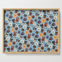 Cute Dog & Pet Owner pattern gift Serving Tray