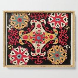 Kungrat Antique Uzbekistan Embroidery Print Serving Tray