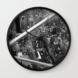 Manhattan from Above, 2018 Wall Clock