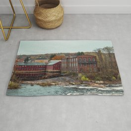 Axe Me No Questions Abandoned Collins Company Mill New England Rug