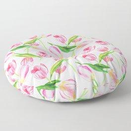 Pink Tulips Floor Pillow