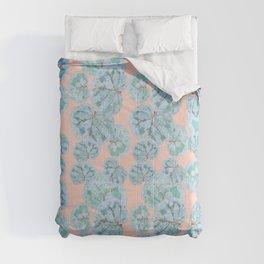 Tropical Sea Grape Leaves Comforters