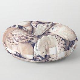 Vintage  Sea Shell Collection Coastal Style Floor Pillow